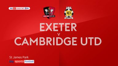 Exeter 2-0 Cambridge