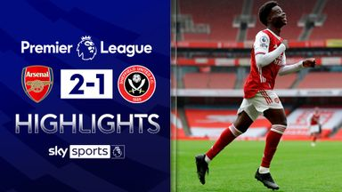 Saka on target as Arsenal see off Blades