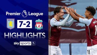 Villa score seven past Liverpool