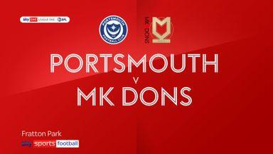 Portsmouth 2-1 MK Dons