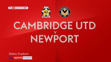 Cambridge 2-1 Newport