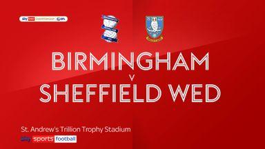 Birmingham 0-1 Sheffield Wednesday