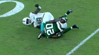 Crazy Jets interception!