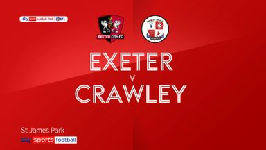 Exeter 2-1 Crawley