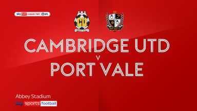 Cambridge 3-1 Port Vale