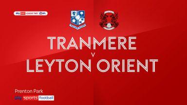 Tranmere 0-1 Leyton Orient