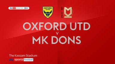 Oxford 3-2 MK Dons