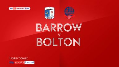 Barrow 3-3 Bolton
