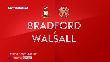 Bradford 1-1 Walsall