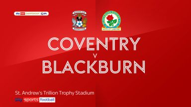 Coventry 0-4 Blackburn