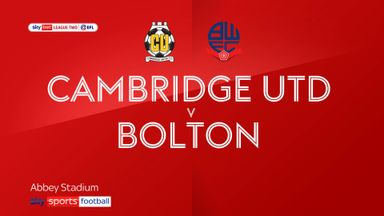 Cambridge 1-1 Bolton