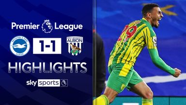 Grant's late strike earns West Brom point at Brighton