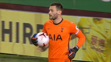 Lloris saves Westwood's low effort (38)