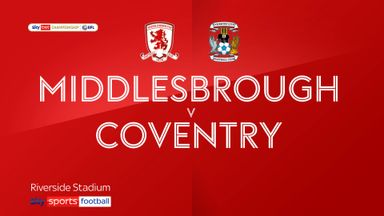 Middlesbrough 2-0 Coventry