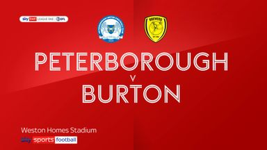 Peterborough 2-2 Burton