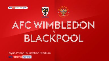 AFC Wimbledon 1-0 Blackpool