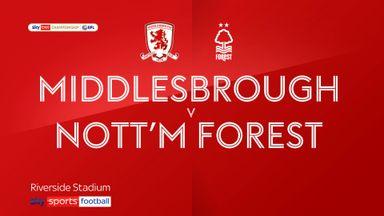 Middlesbrough 1-0 Nott'm Forest