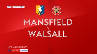 Mansfield 1-1 Walsall