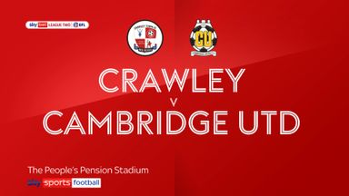 Crawley 2-1 Cambridge Utd