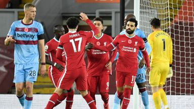HT Liverpool 1-1 West Ham