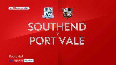 Southend 0-2 Port Vale