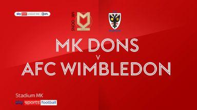 MK Dons 1-1 AFC Wimbledon
