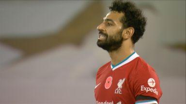 Salah shoots wide (74)