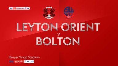 Leyton Orient 4-0 Bolton