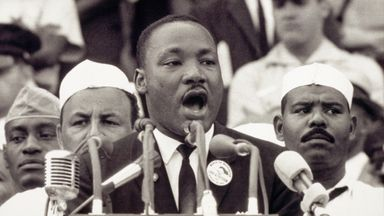 'I have a dream' : Martin Luther King Jr at the Lincoln Memorial on 28 August, 1963