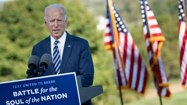 Swing states such as Pennsylvania, where Mr Biden was on 6 October, get a lot of focus