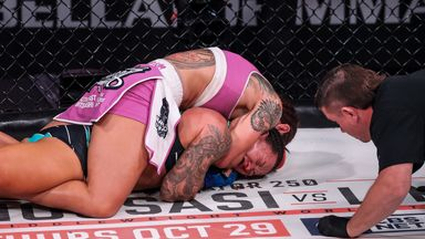 Cyborg wins with first career submission