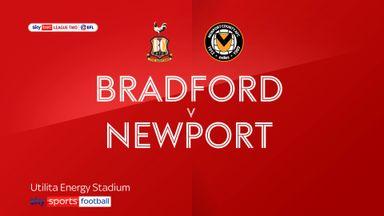 Bradford 0-3 Newport