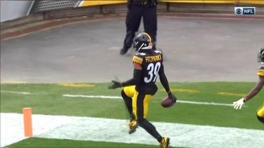 Fitzpatrick slick pick six for Steelers