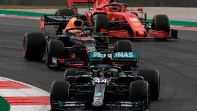 Hamilton takes the lead at Portimao