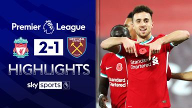 Jota grabs late winner as Liverpool beat Hammers