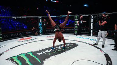 Landu celebrates win with breakdancing!
