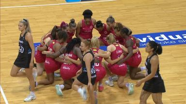 England take the knee prior to NZ clash
