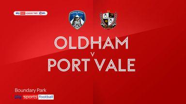 Oldham 1-2 Port Vale