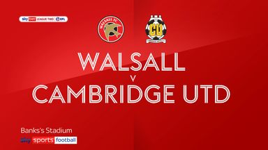 Walsall 0-2 Cambridge Utd