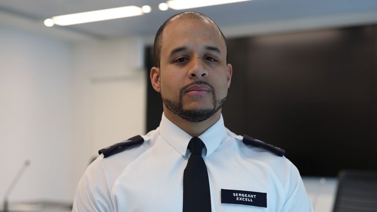 Sergeant Chris Excell, a colleague of murdered police officer Sergeant Matt Ratana at Scotland Yard, London.