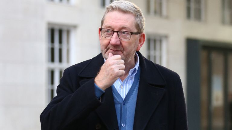 Len McCluskey, General Secretary of Unite the union, leaves BBC Broadcasting House in London.