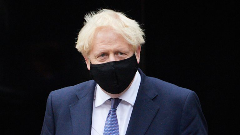 Prime Minister Boris Johnson during a visit to the headquarters of Octopus Energy in London.