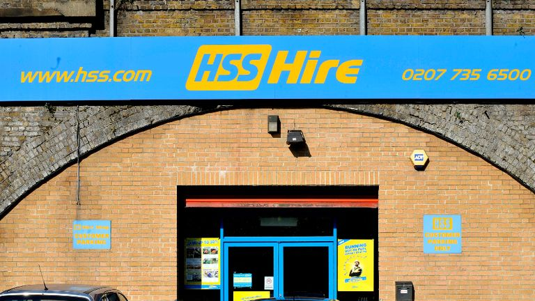 A HSS Hire shop in Vauxhall, London, as the tool rental firm said it was on track to open new branches at a rate of almost one a week, after floating on the stock exchange earlier this year.