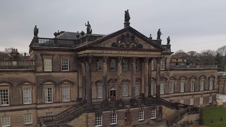 Exterior view of Wentworth Woodhouse in Rotherham, South Yorkshire, as the Wentworth Woodhouse Preservation Trust embark on a major project to restore the stately home and open it to the public.