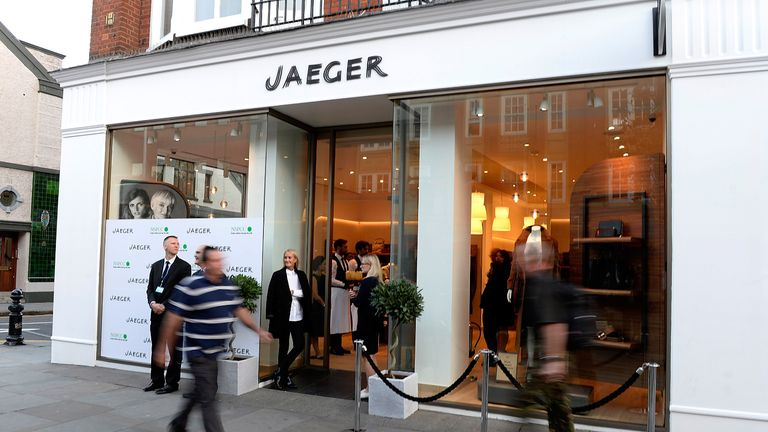 LONDON, ENGLAND - SEPTEMBER 24: The Jaeger store re-launch as the new store concept in Chelsea is unveiled on September 24, 2014 in London, England. (Photo by David M. Benett/Getty Images for Jaeger)