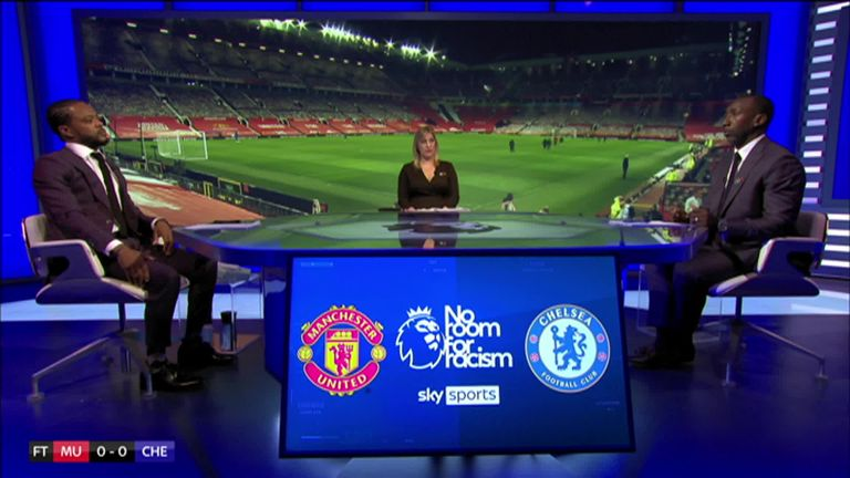 Patrice Evra and Jimmy Floyd Hasselbaink had rather different perspectives on the goalless draw between Manchester United and Chelsea - and they didn't hold back in their post-match debate!
