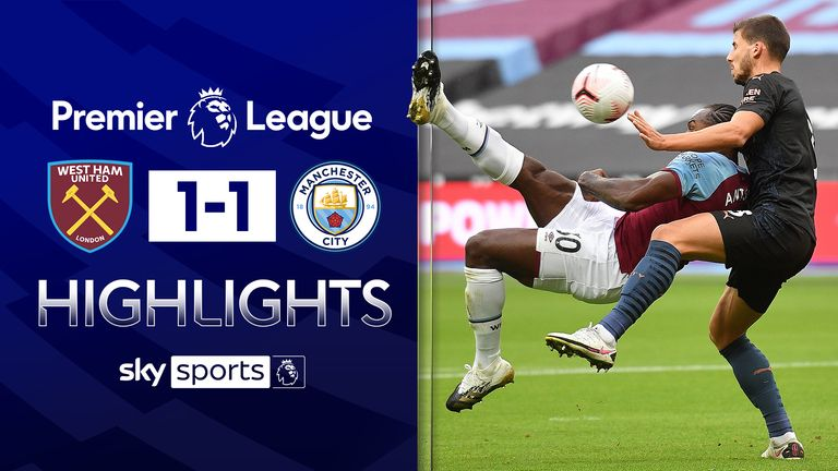 FREE TO WATCH: Highlights from West Ham's draw with Manchester City in the Premier League