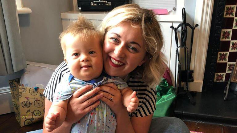 Máire Lea-Wilson and her son Aidan