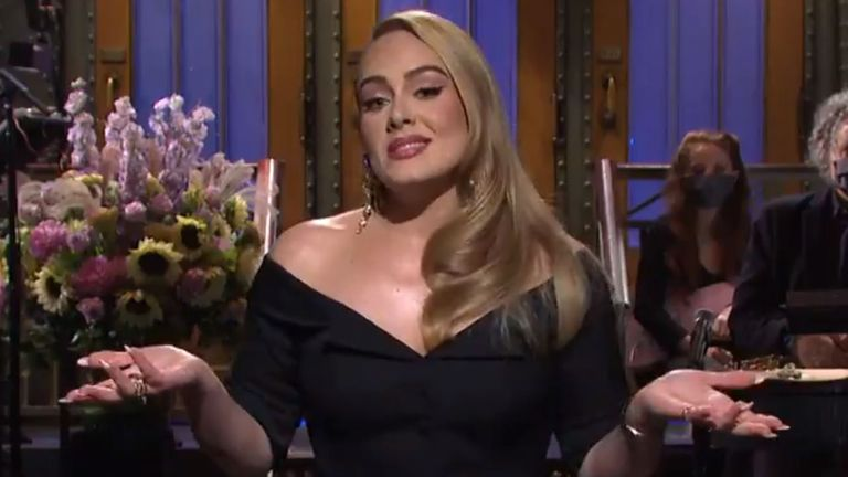 It was a high stakes gig for Adele, who credits SNL with kickstarting her US career back in 2012. Pic: NBC