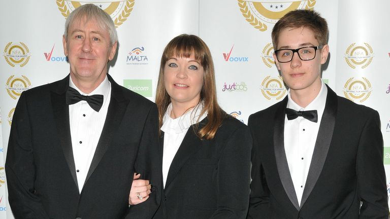 Nicholas Lyndhurst, Lucy Smith and Archie Lyndhurst in 2017. Pic: Can Nguyen/Shutterstock
